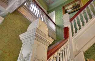 Sacramento Victorian mansion banister