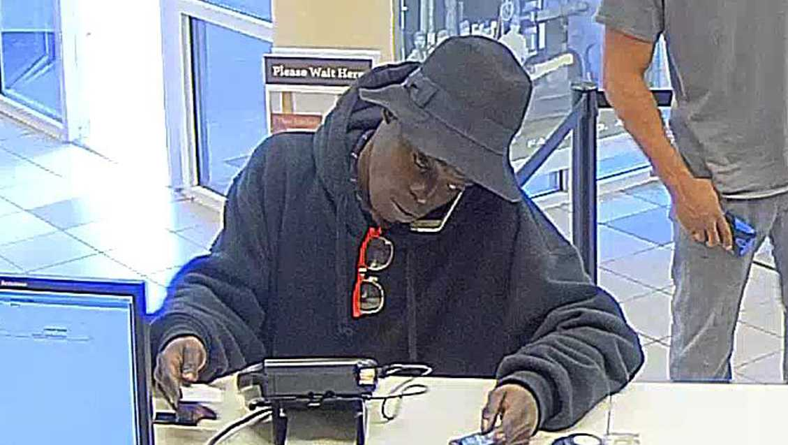 Fairfield bank robbery suspect