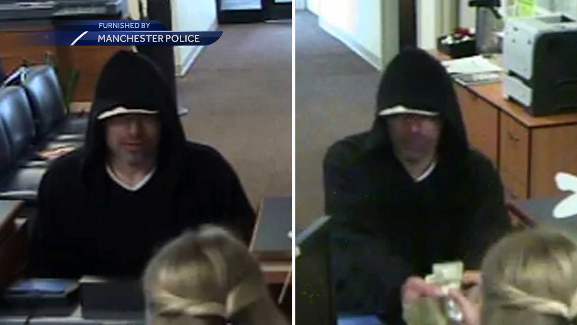 Manchester police looking for bank robbery suspect