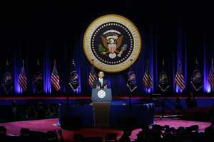 President Barack Obama waves as he speaks during his farewell address at McCormick Place in Chicago, Tuesday, Jan. 10, 2017.
