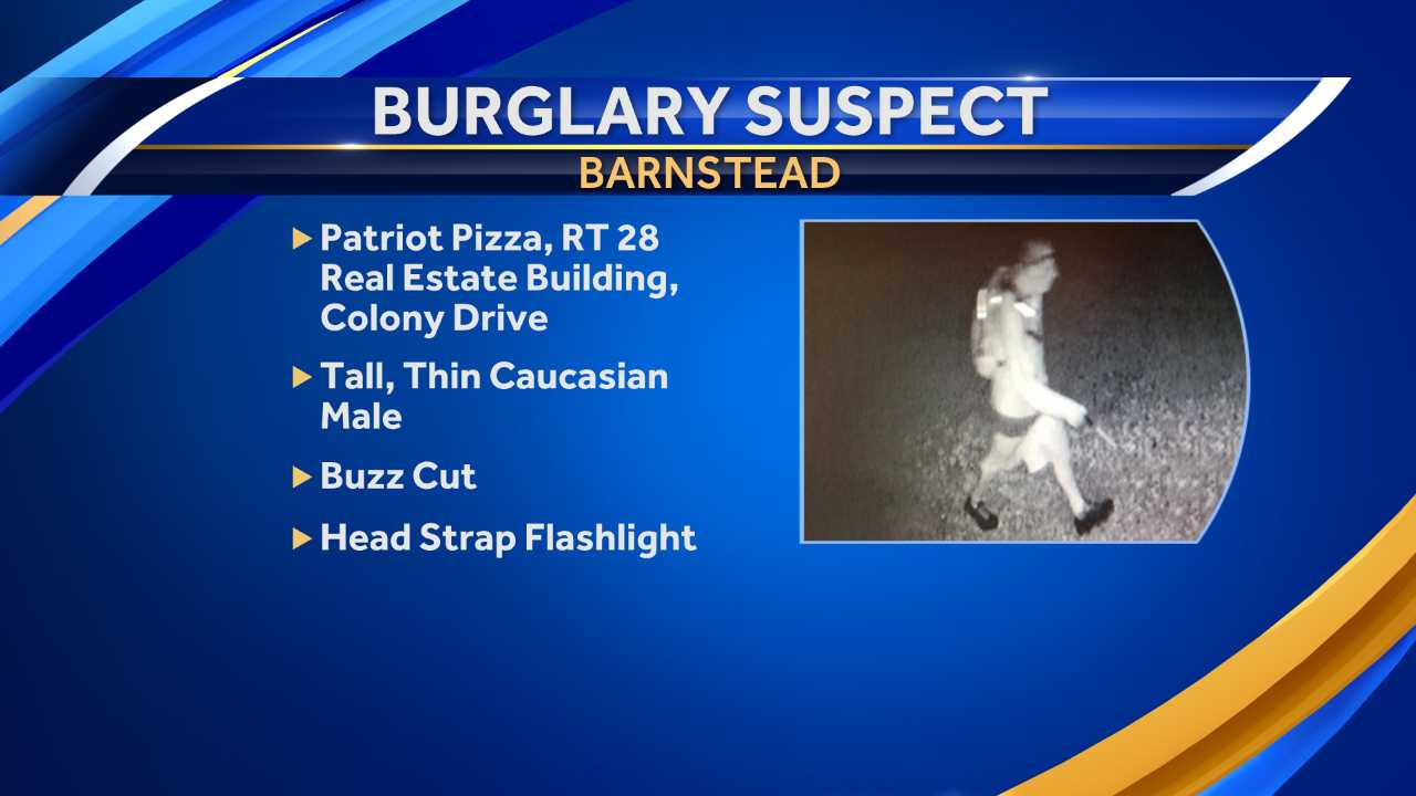 Barnstead police looking for man who allegedly burglarized two businesses