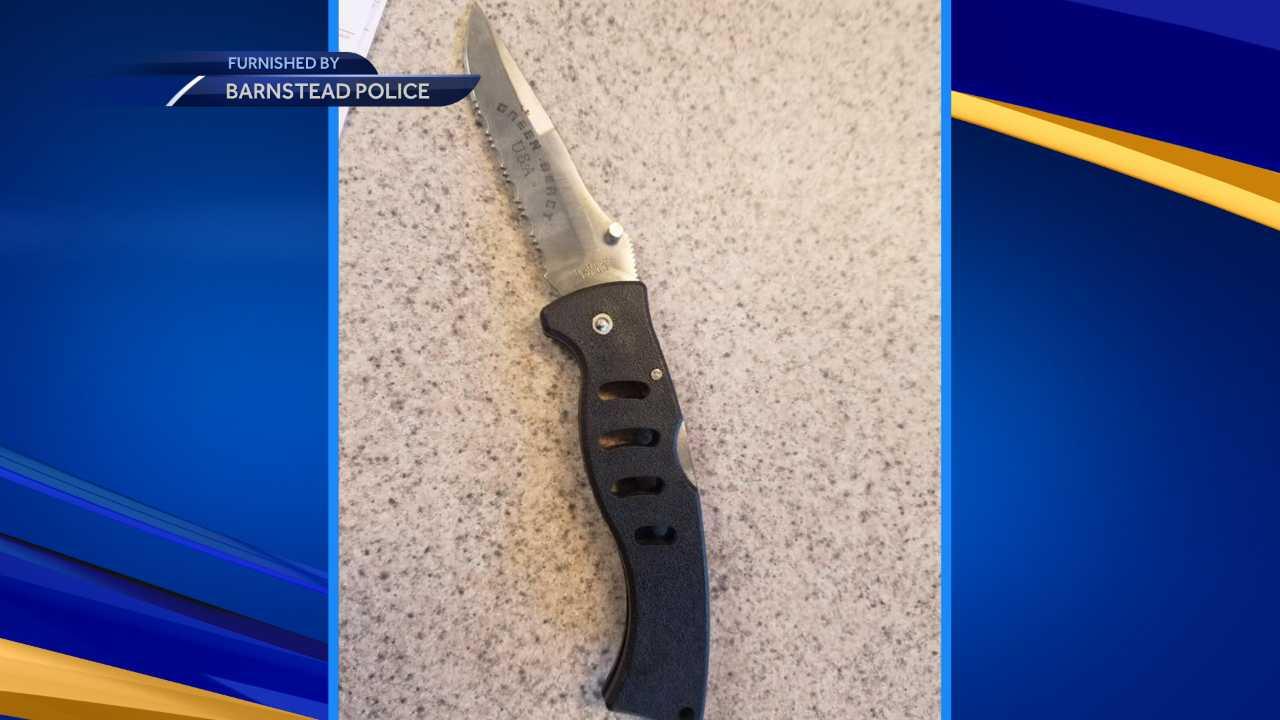 Barnstead police looking for burglar who left knife behind
