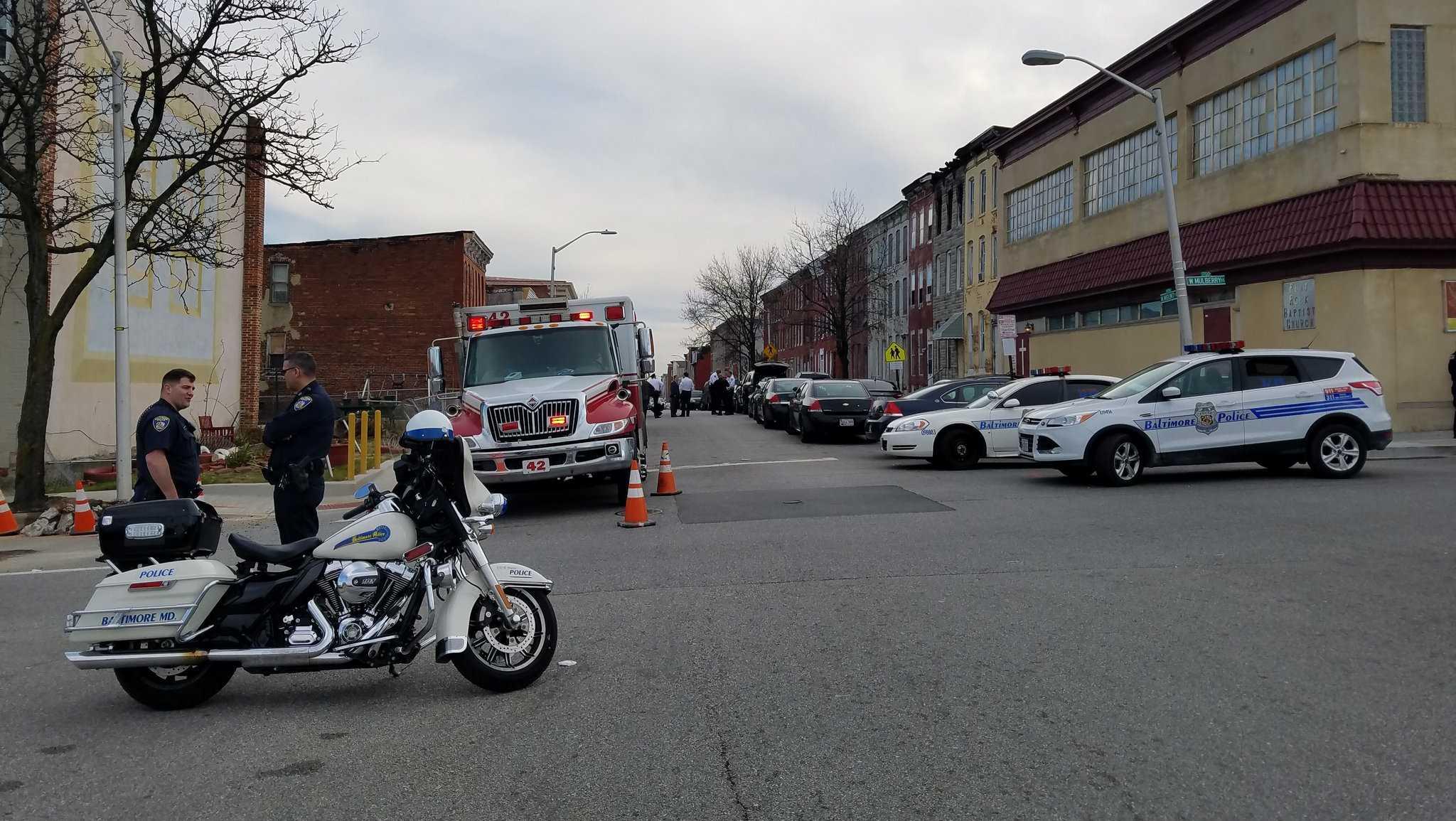 West Saratoga Street barricade situation