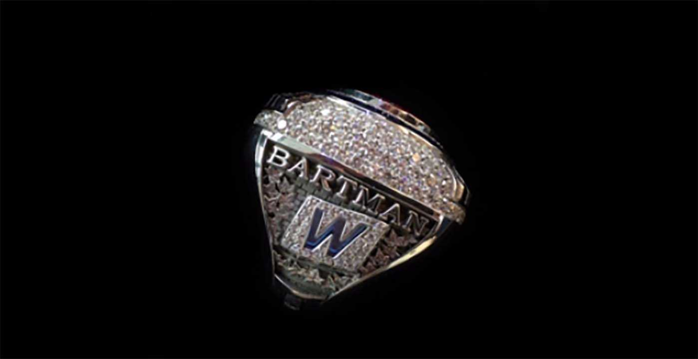 Bartman Receives a Cubs World Series Ring