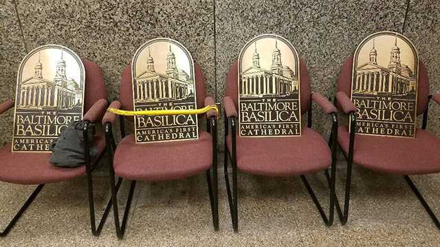 basilica stolen signs