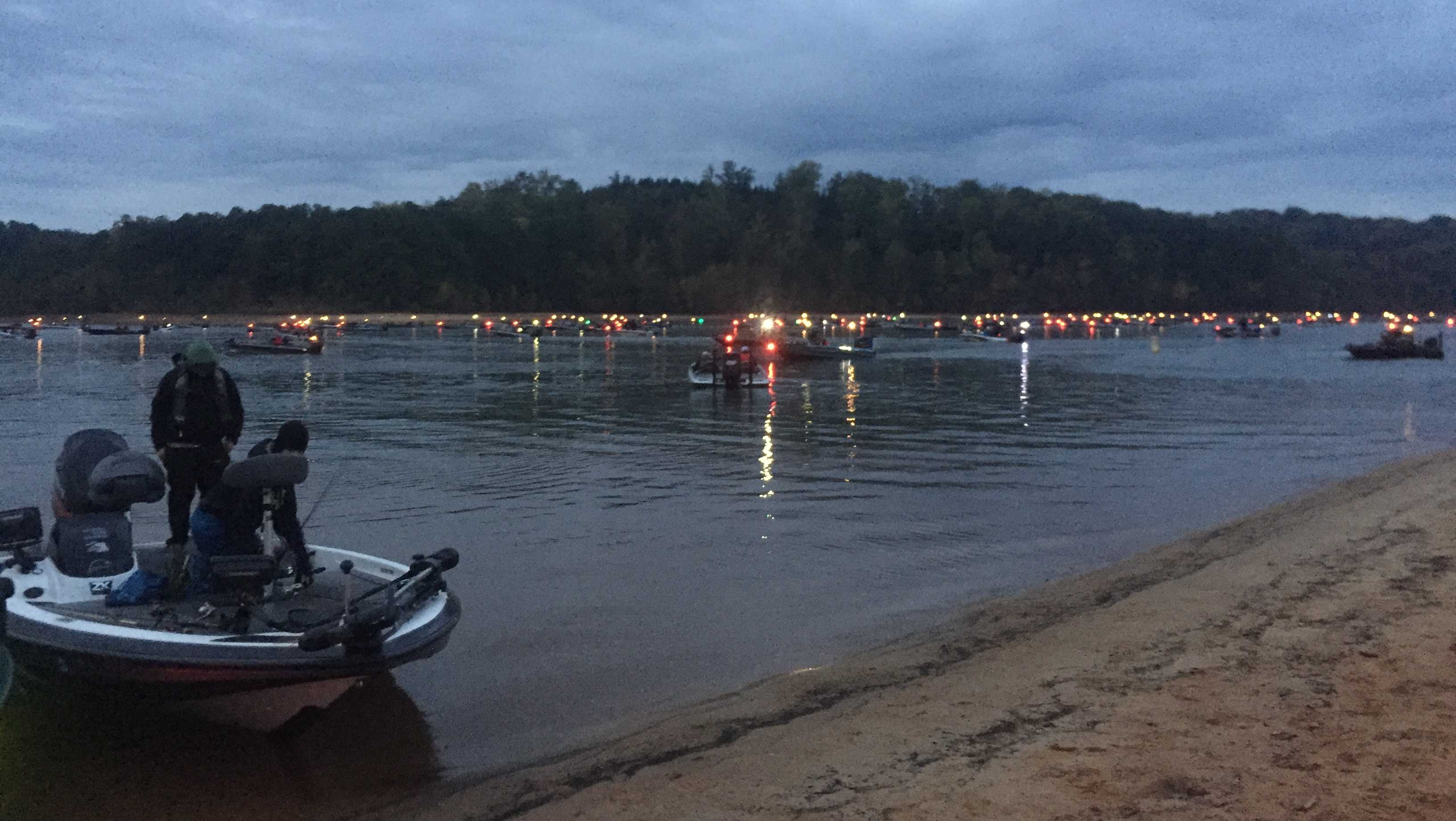 Bass fishing tournament on Lake Hartwell