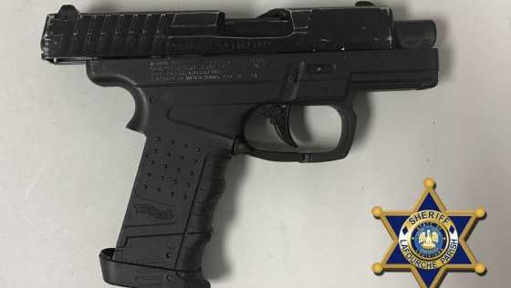 A BB gun found at Raceland Upper Elementary School.
