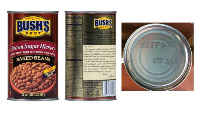 Bush baked beans recalled over defective can