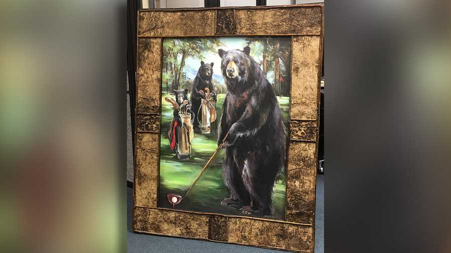 Stolen painting of 3 bears playing golf found on - Sacramento craigslist farm and garden ...