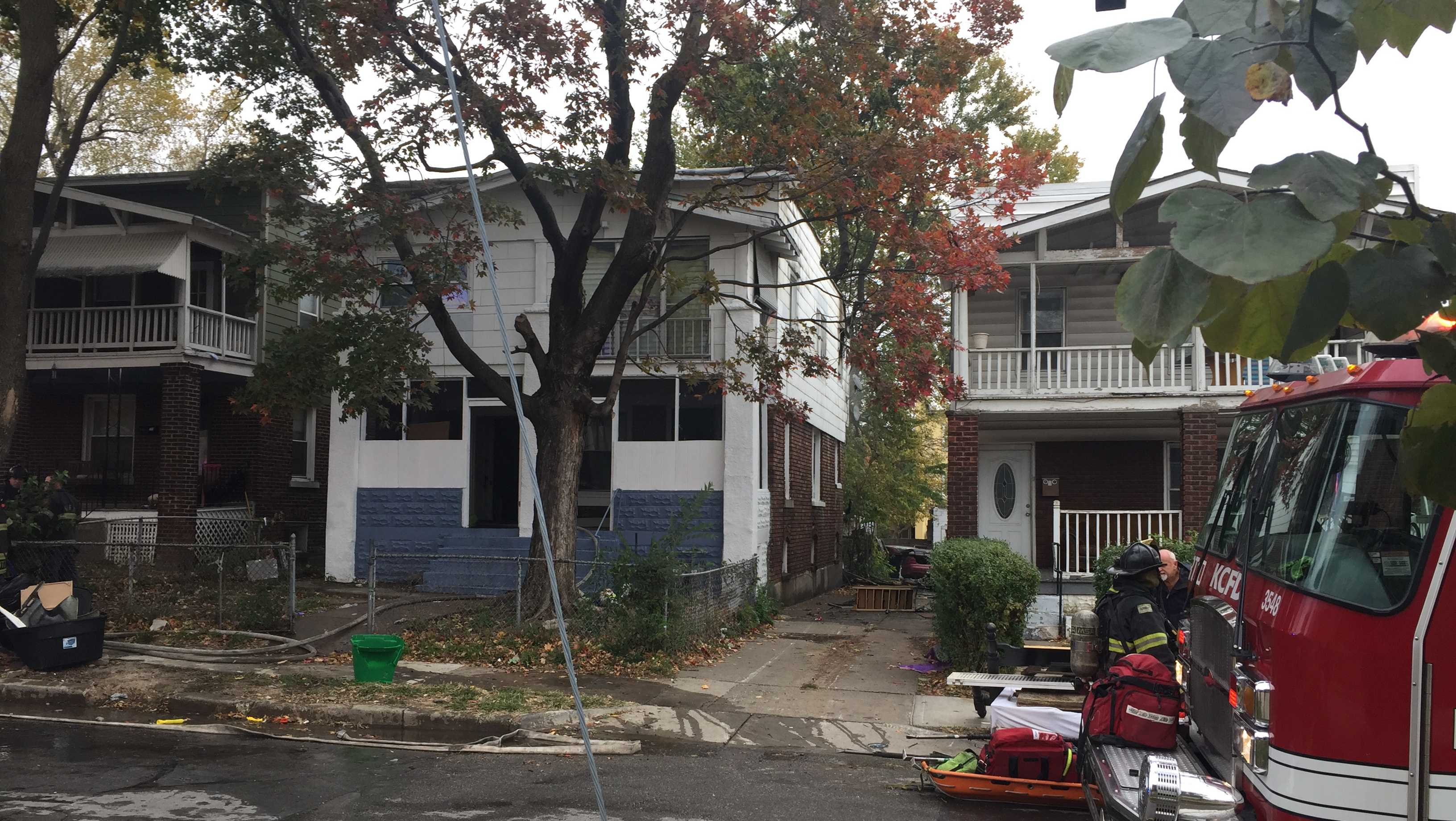 Apartment house fire, 100 block of North Bellaire Avenue