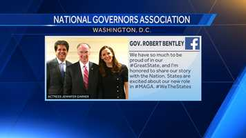 Gov. Robert Bentley in Washington, D.C. for the National Governors Association Winter Meeting.