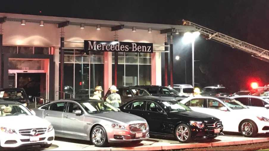 fire damages sacramento mercedes benz dealership