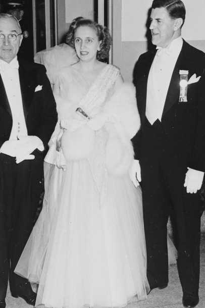 Bess Truman at the 1949 Inaugural Ball on January 20, 1949.