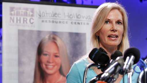 Beth Holloway, mother of Natalee Holloway, speaks during the opening of the Natalee Holloway Resource Center in 2010