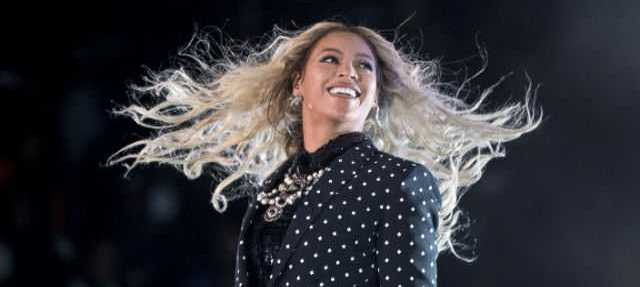 In this Nov. 4, 2016 file photo, Beyonce performs at a Get Out the Vote concert for Democratic presidential candidate Hillary Clinton in Cleveland.