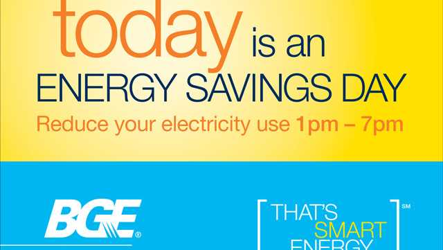 BGE Energy Savings Day today