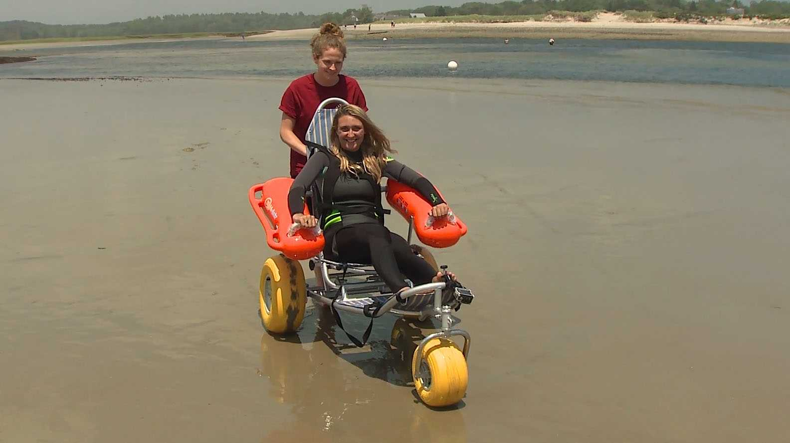 Adapted wheelchair makes beach life possible for people with disabilities
