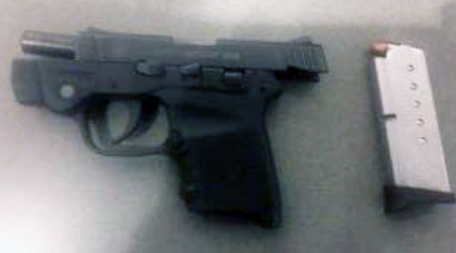 Woman stopped at airport with loaded gun