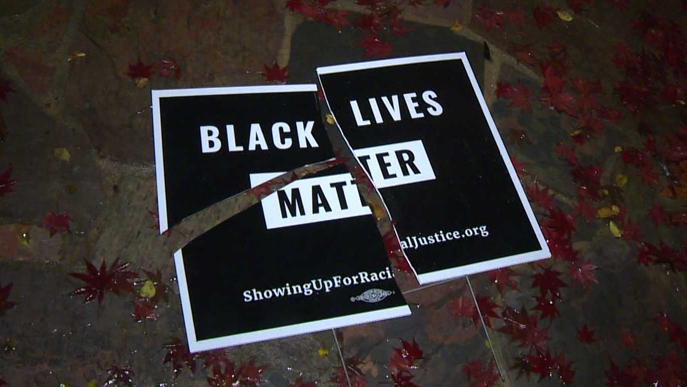 A Sacramento woman says vandals have torn and ripped up the Black Lives Matter signs she posted in her yard four times.