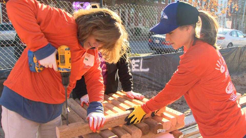 Building playground in west Baltimore