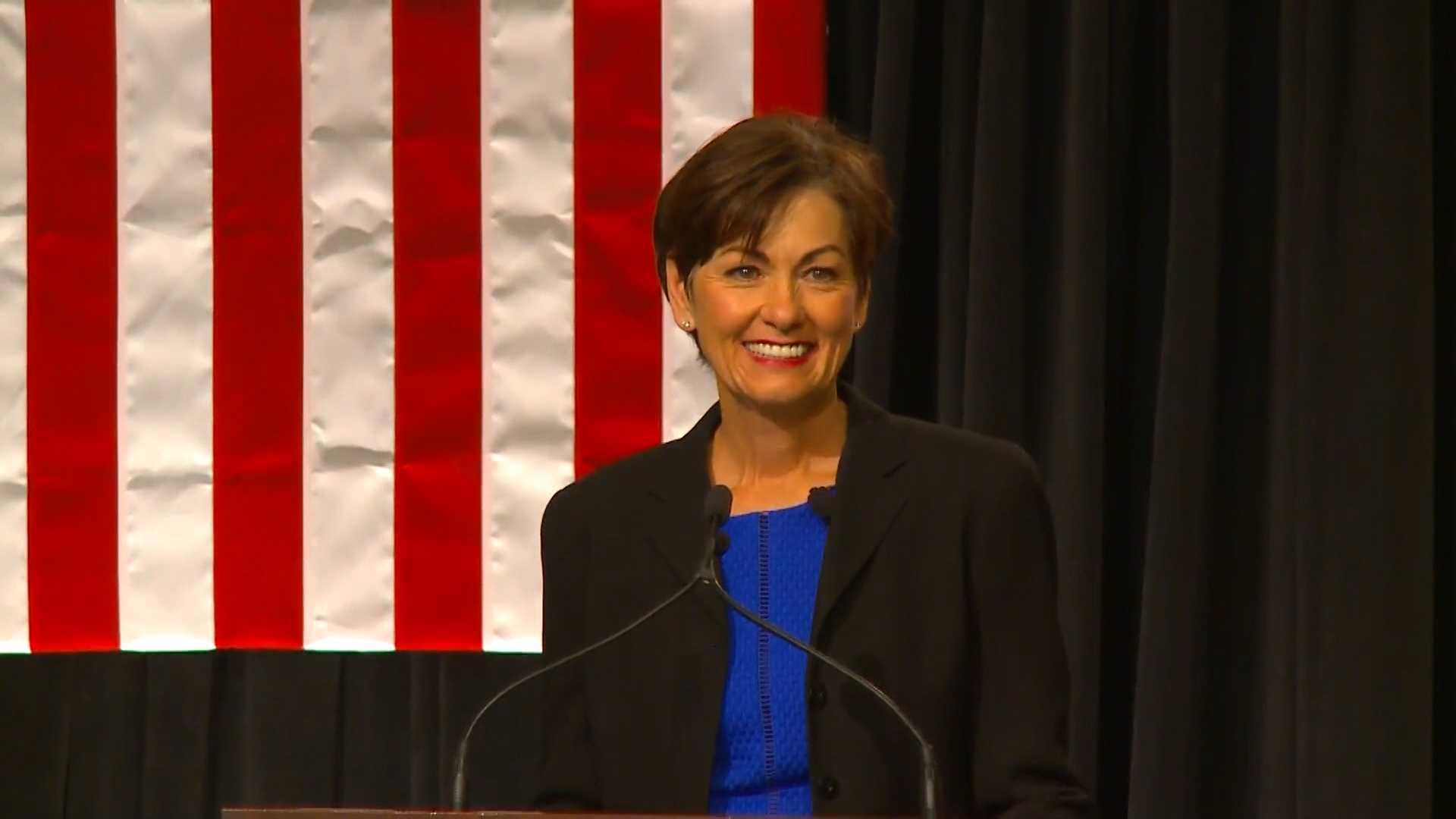 Reynolds sworn-in as Iowa Governor