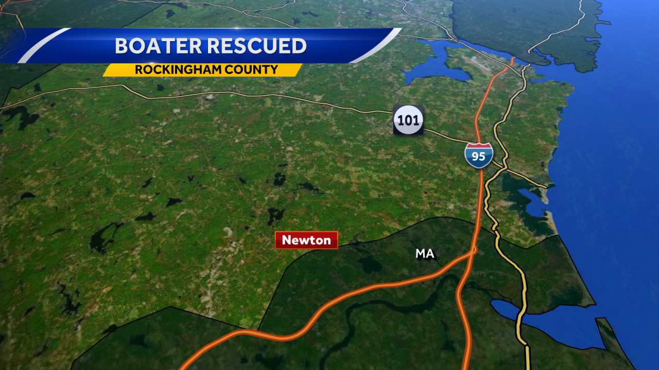 Man falls off boat, hits head and back in Newton