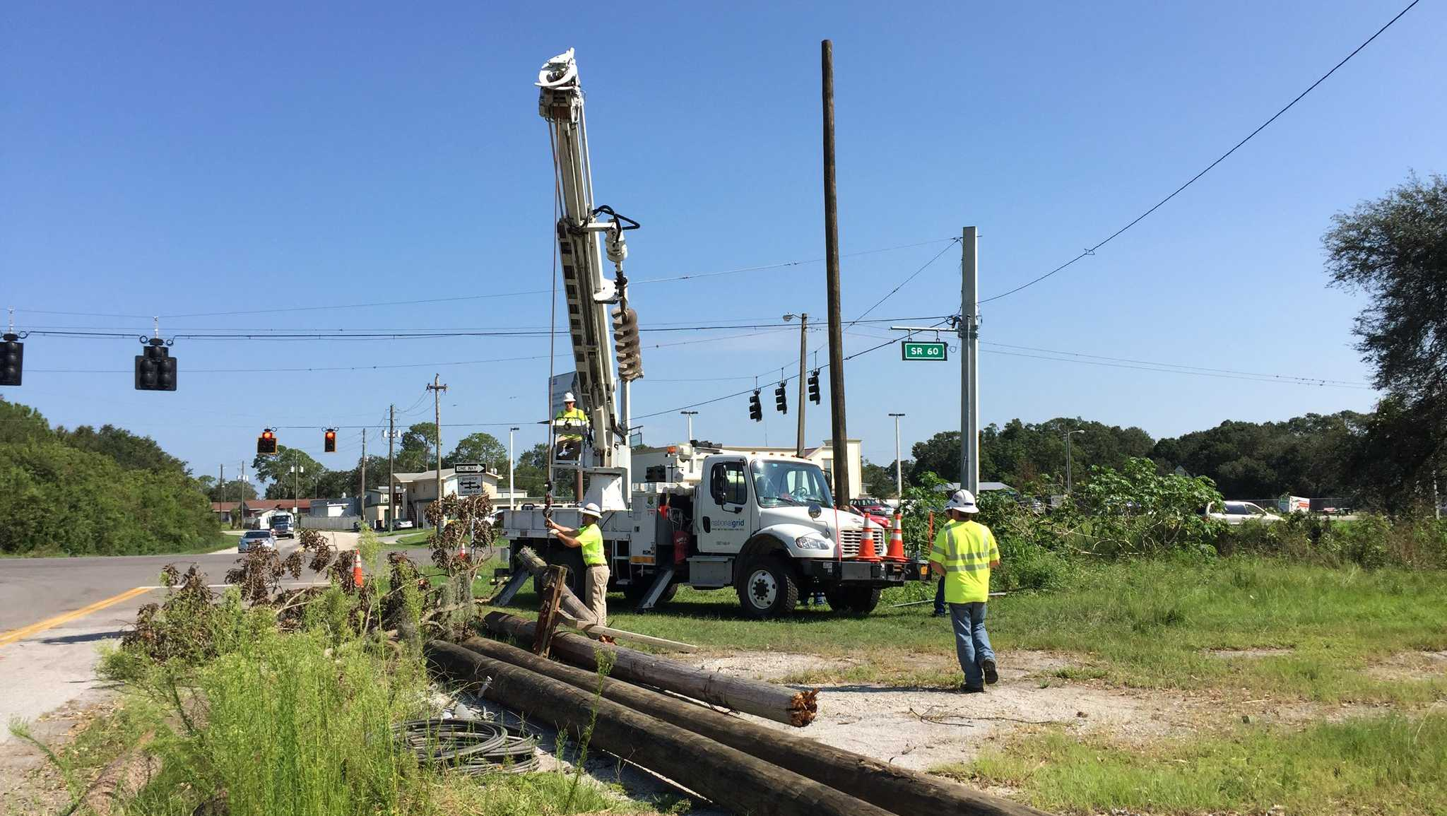 National Grid employees work in Florida