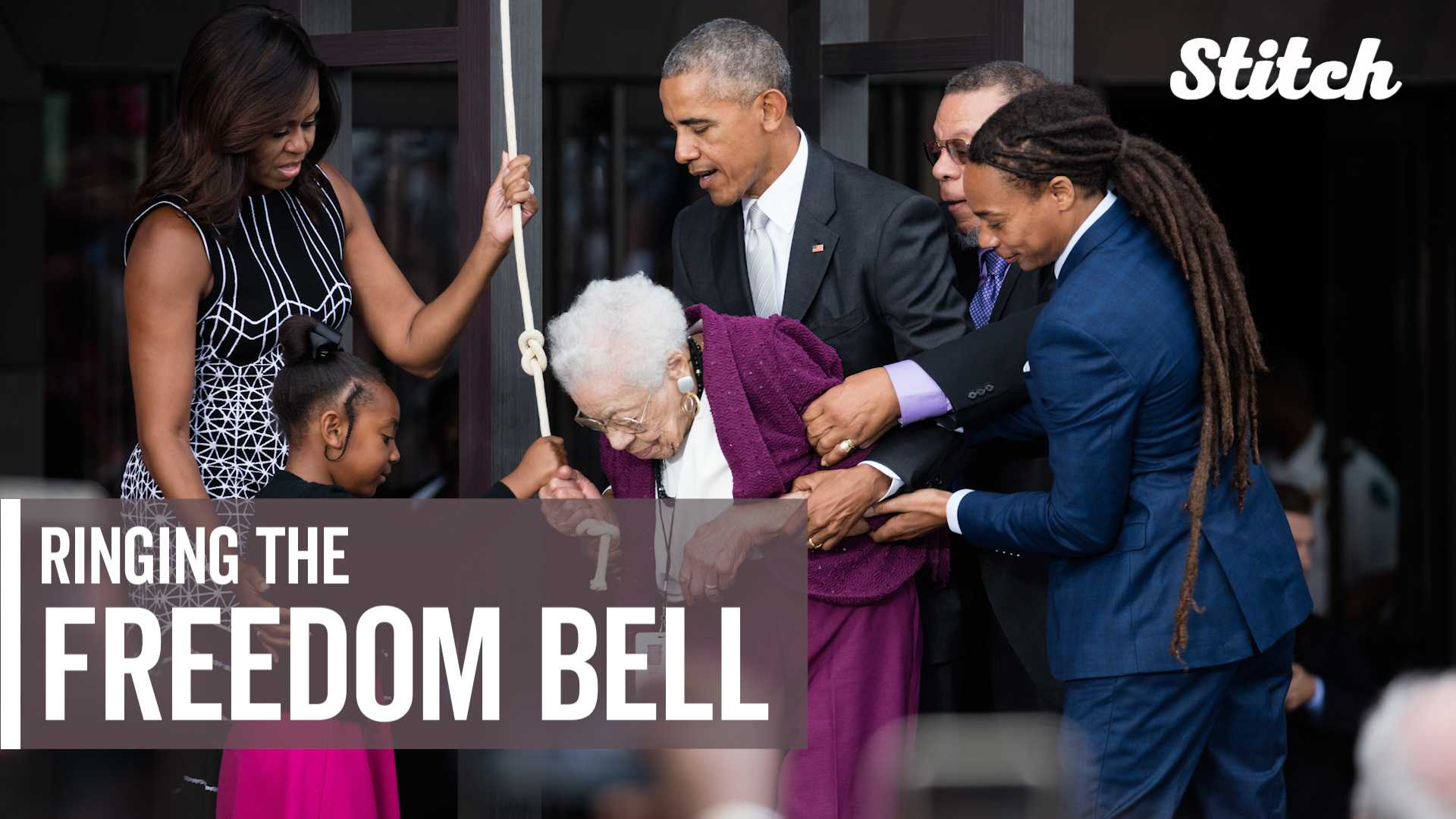 Honoring Ruth Odom Bonner, the daughter of a slave who rang the Freedom Bell with Obama