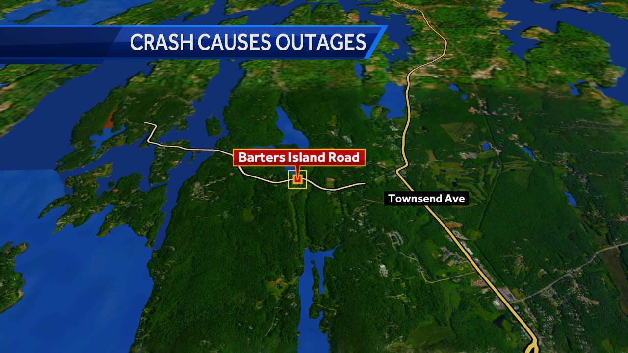Crash Knocks Out Power To Boothbay, Botanical Gardens Attraction