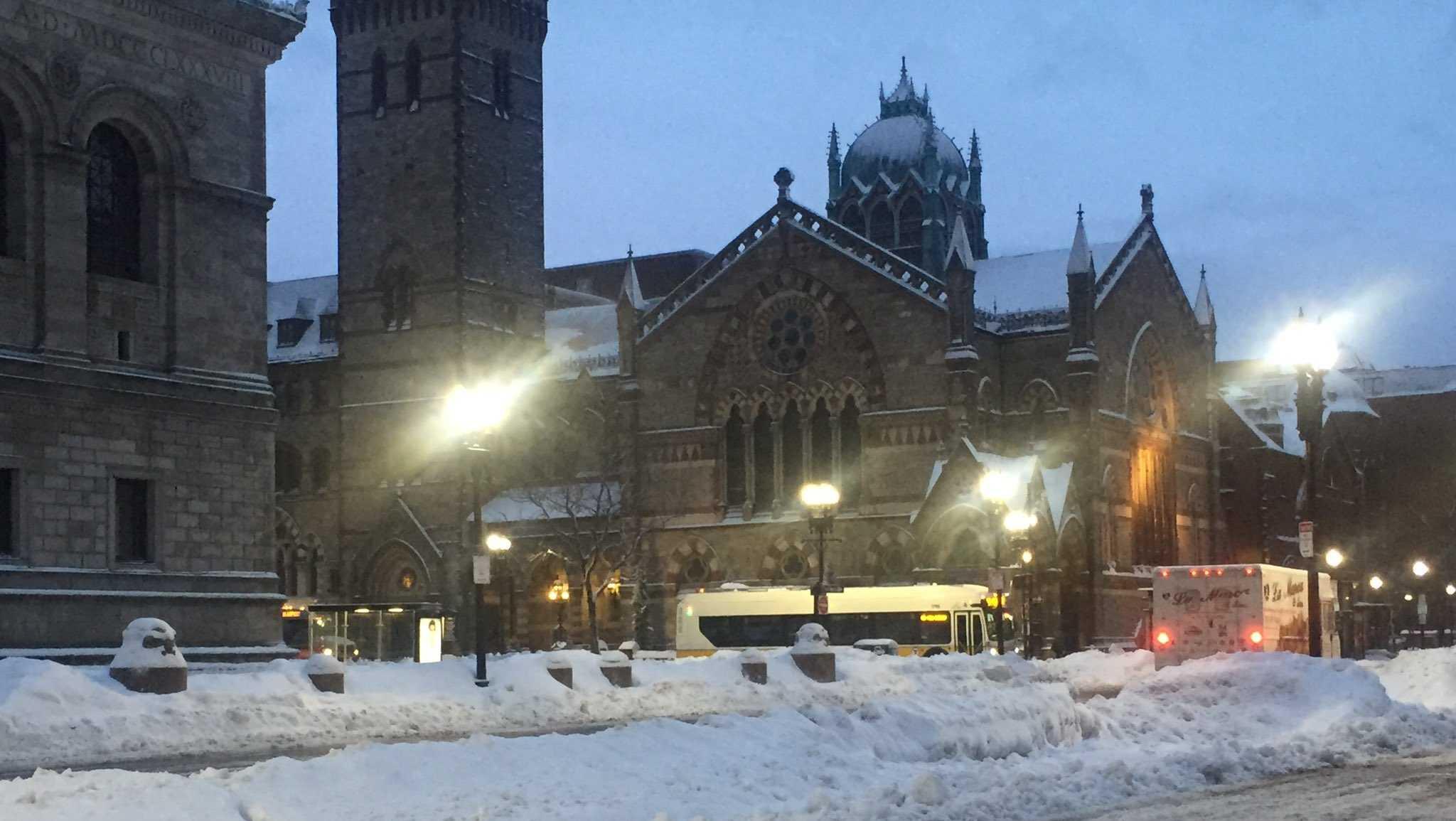Snow in Boston Feb 13 2017