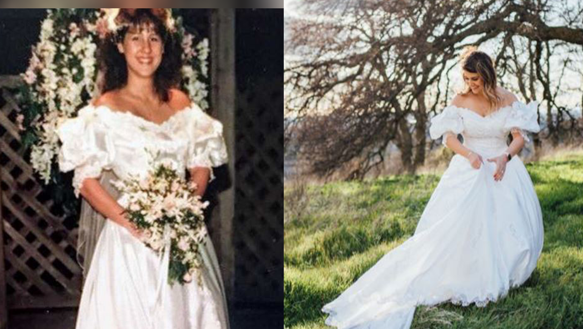 Cameron Park bride stuns in late mom\'s wedding dress for photo shoot