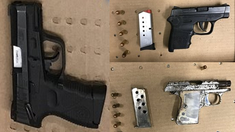 2 guns found on playground