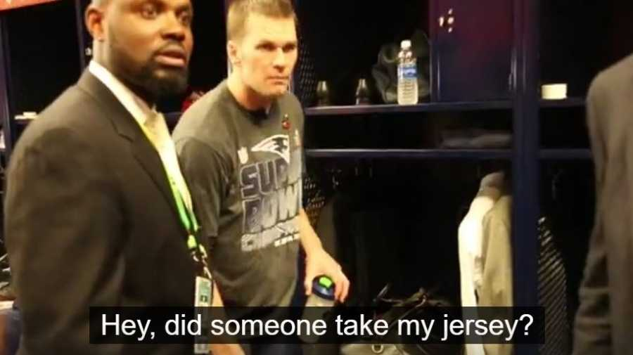 guy stealing tom brady jersey