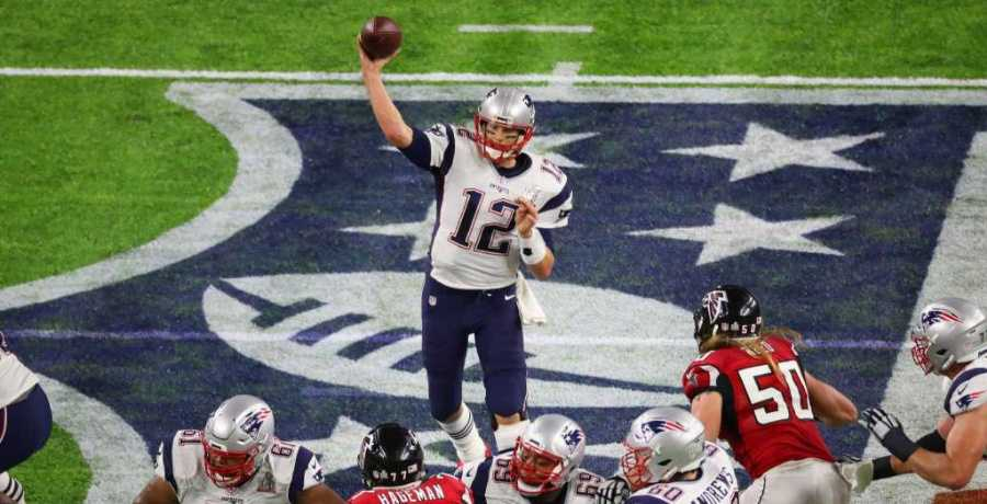 New England Patriots quarterback Tom Brady throws a pass during the second quarter of Super Bowl LI at NRG Stadium on Sunday, Feb. 5, 2017, in Houston.