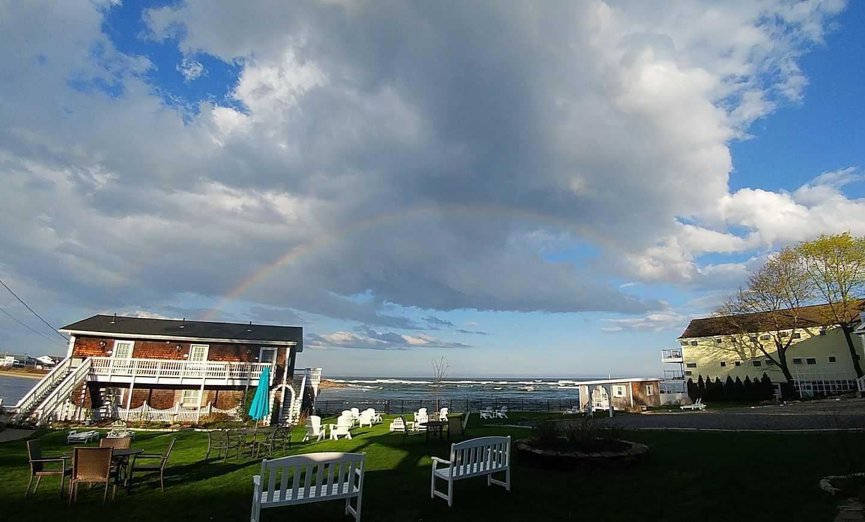 Rainbow across southern Maine