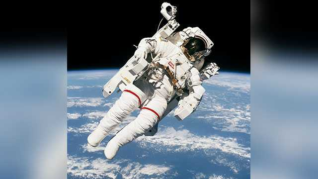 Astronaut's untethered leap captured in NASA's iconic spacewalk picture
