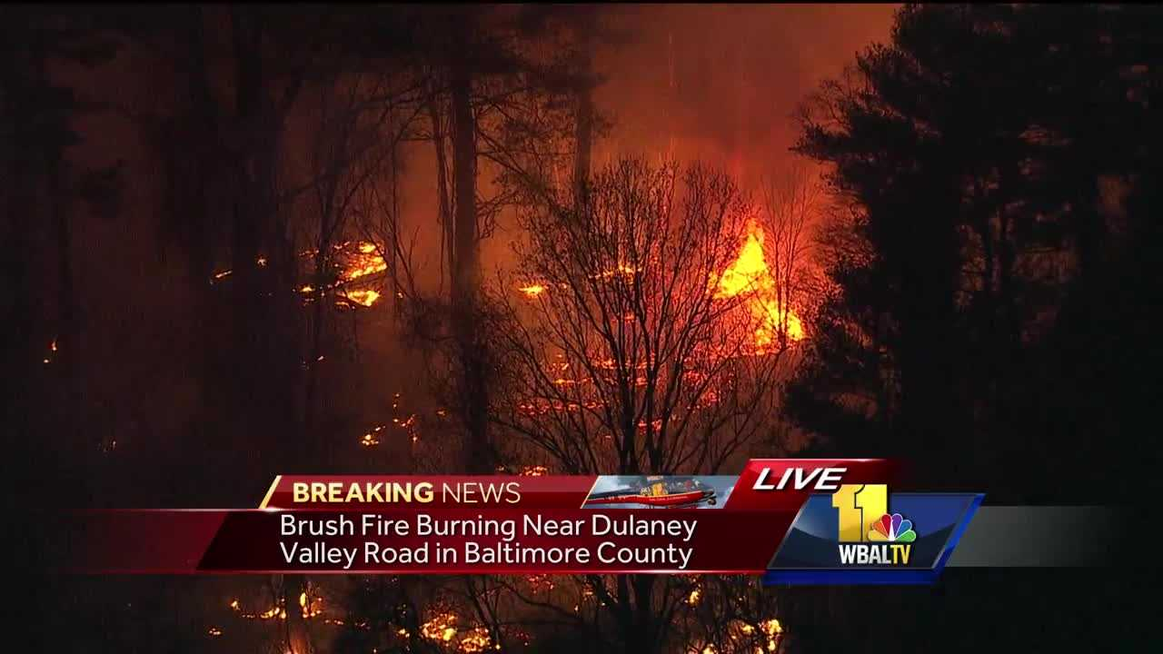 Brush fire in Baltimore County