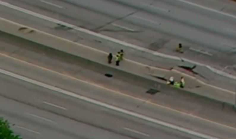 Atlanta highway buckles and lanes shut down