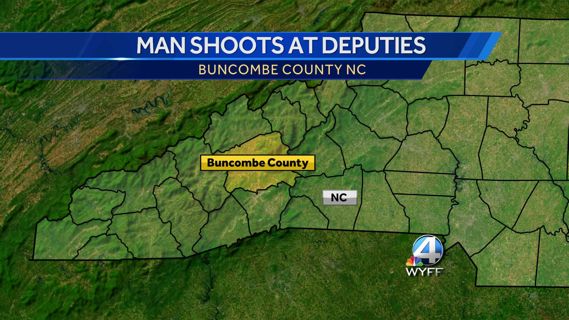 Buncombe County deputies were shot at while responding to an incident