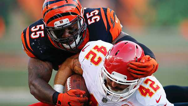 Cincinnati Bengals LB Vontaze Burfict faces 5-game suspension for illegal hit