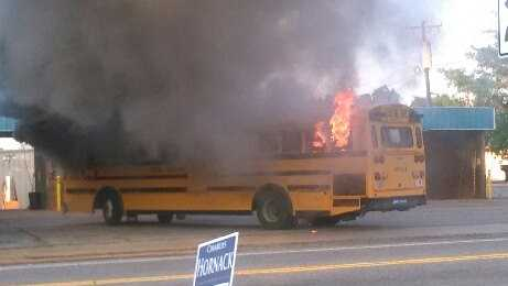School bus fire