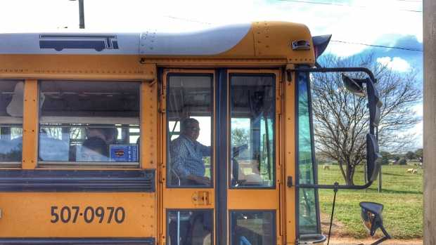 School bus driver Ron Hawkins