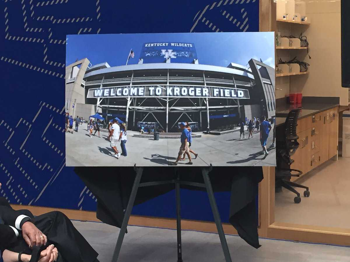 Kentucky changing stadium to Kroger Field in naming deal
