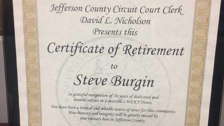 Retirement Certificate Best Design Sertificate 2018
