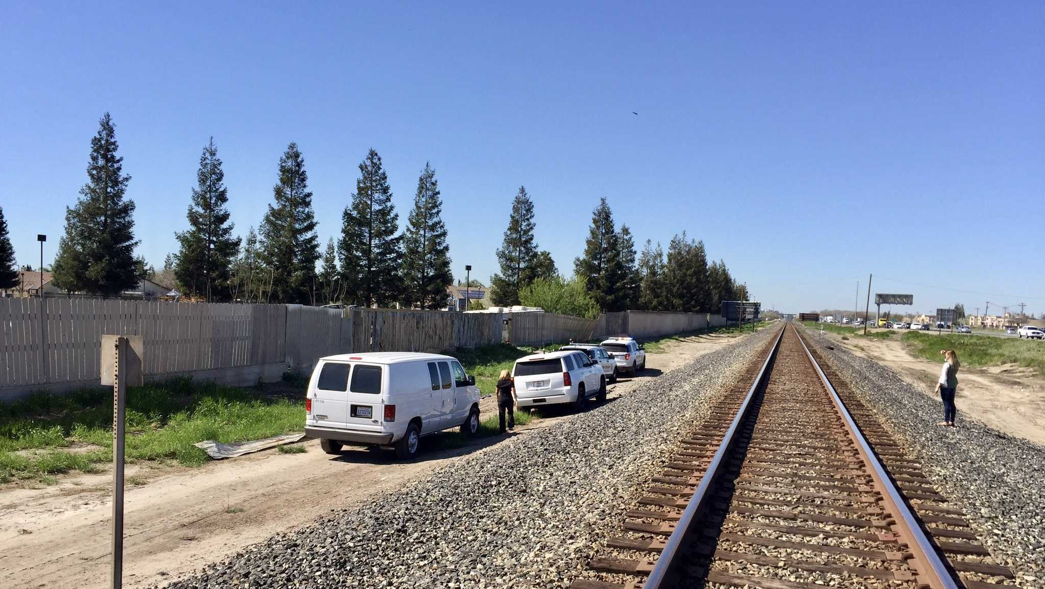 Stanislaus County sheriff's detective investigate after a body was found near Salida railroad tracks on Monday, March 13, 2017.