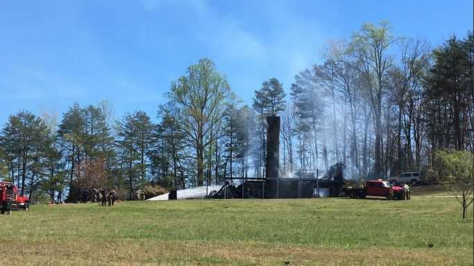 Pickens County log cabin fire