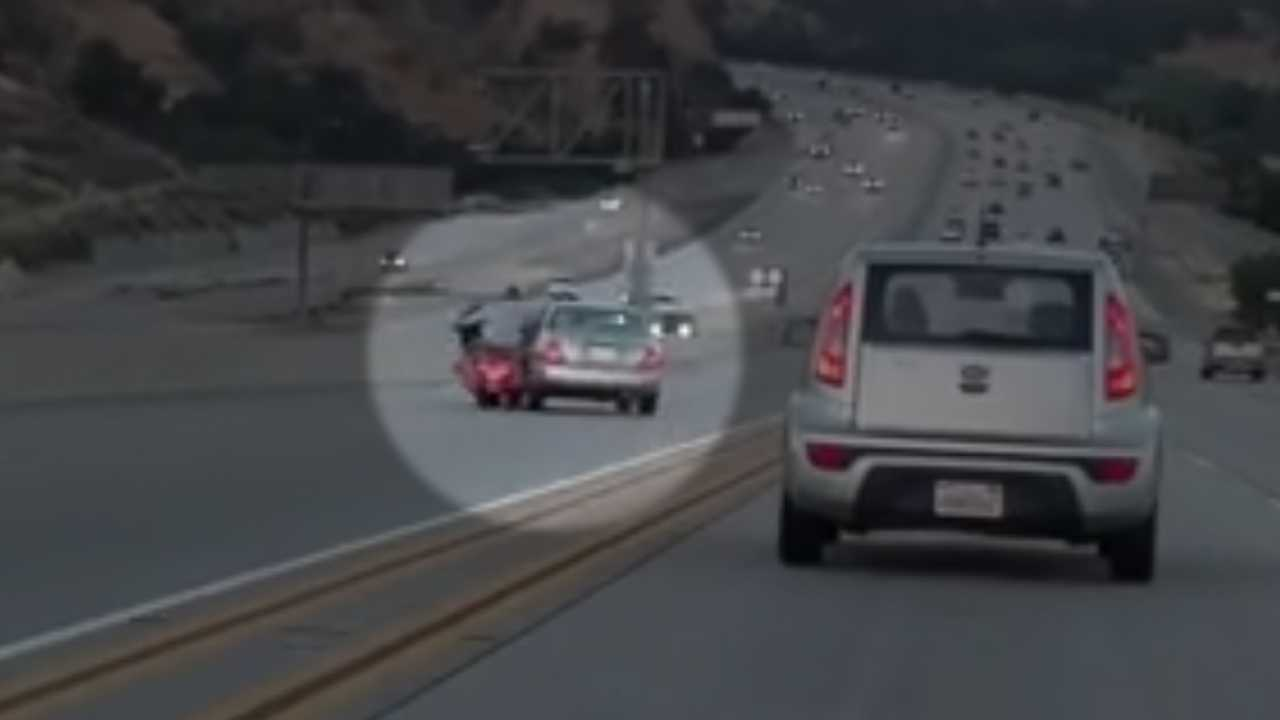 Road rage incident triggers massive crash on highway