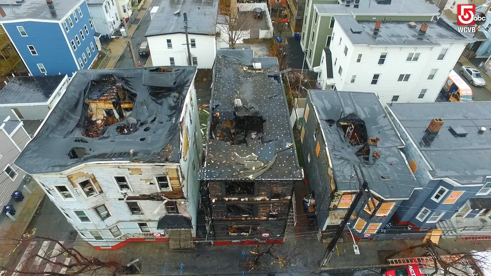 Drone 5 over Cambridge damage