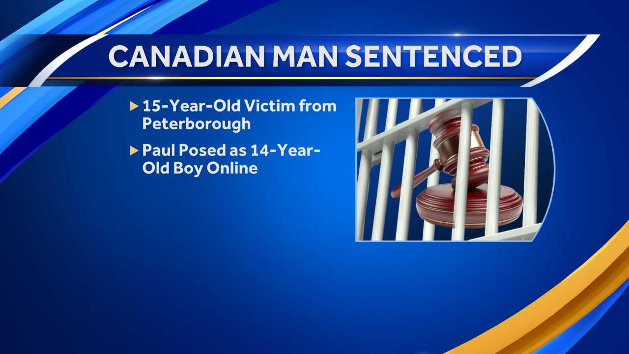 Canadian man sentenced for exploiting Peterborough girl