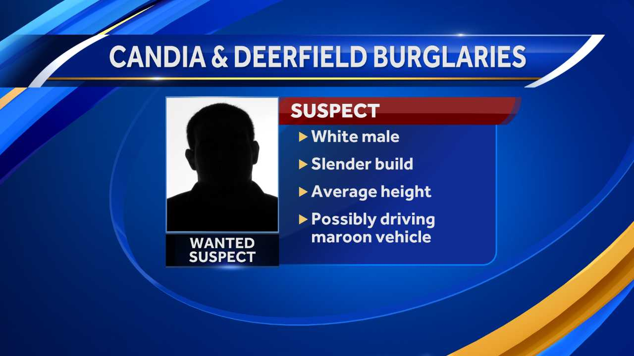 Candia and Deerfield burglary suspect description